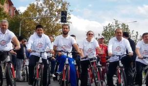 'Gençlik Demokrasiye Pedallayor' etkinliği