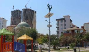 Kartal'da parklar rüzgarla besleniyor