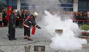 Ataşehir Belediyesi'nden yangın eğitimi