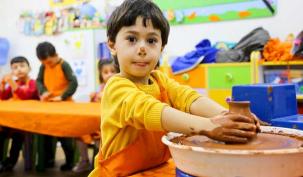 Maltepeli miniklere çömlek eğitimi