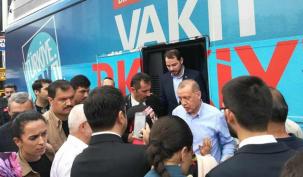 Erdoğan Ataşehir'de sevinçle karşılandı