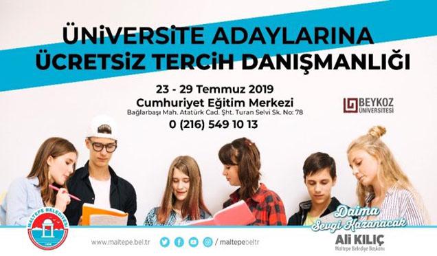 Maltepe'den Üniversite Adaylarına Ücretsiz Danışmanlık